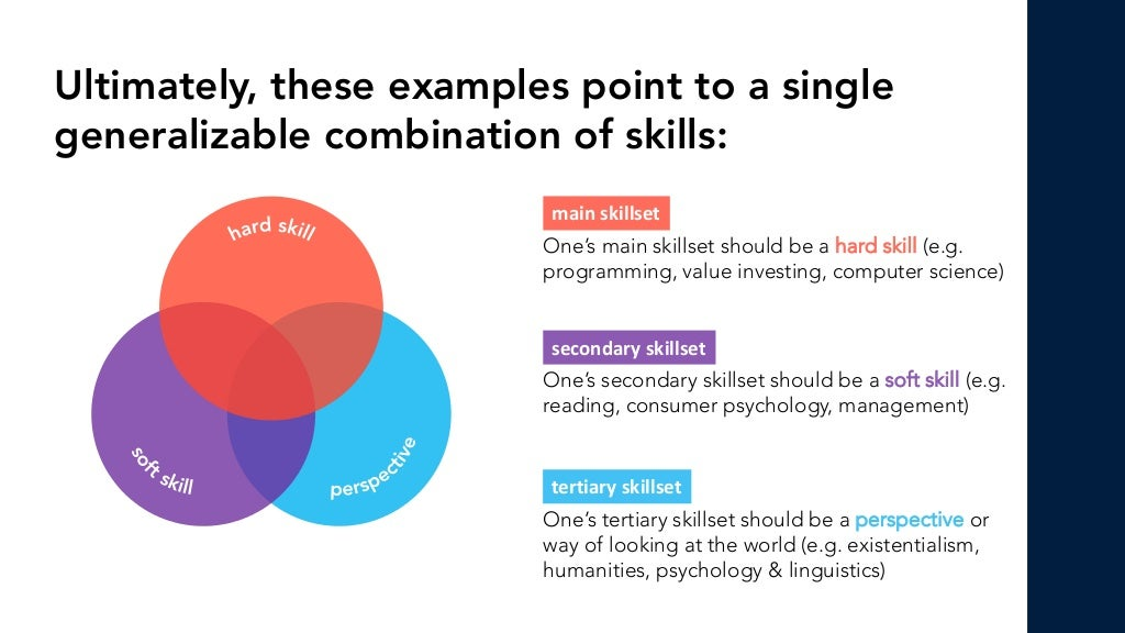 Hard Skill + Soft Skill + Perspective = Expert-Generalist