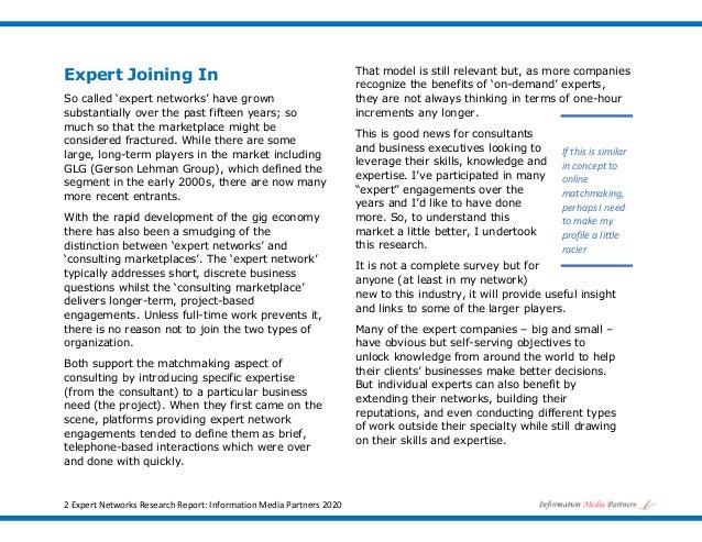 Market Brief: Expert Networks Slide 2