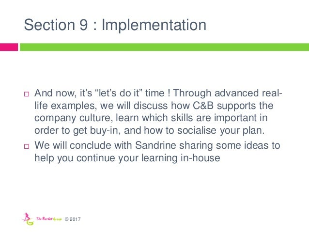 """Section 9 : Implementation  And now, it's """"let's do it"""" time ! Through advanced real- life examples, we will discuss how ..."""