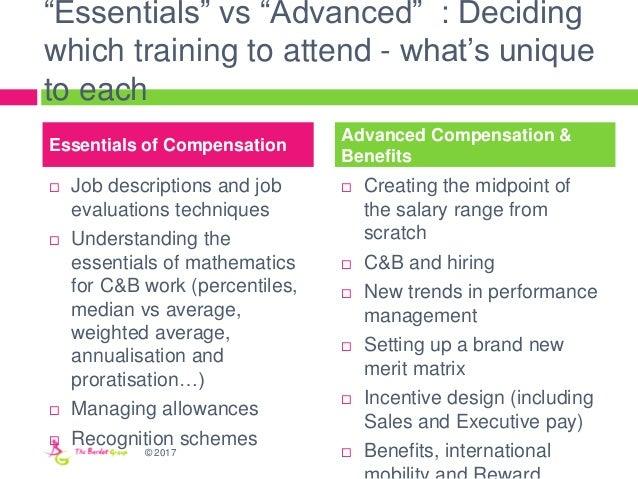 """Essentials"" vs ""Advanced"" : Deciding which training to attend - what's unique to each  Job descriptions and job evaluati..."