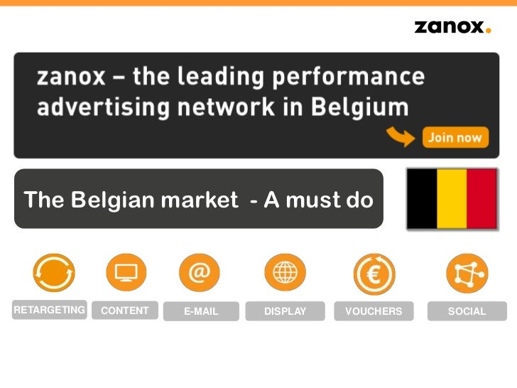 The Belgian market - A must doRETARGETING   CONTENT   E-MAIL   DISPLAY   VOUCHERS   SOCIAL