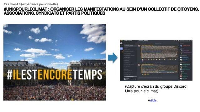 (Capture d'écran du groupe Discord Unis pour le climat) Article #UNISPOURLECLIMAT : ORGANISER LES MANIFESTATIONS AU SEIN D...