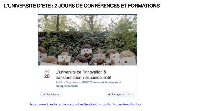 L'UNIVERSITE D'ETE : 2 JOURS DE CONFÉRENCES ET FORMATIONS https://www.linkedin.com/events/luniversitedetedel-innoavtion-la...