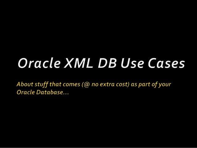 Oracle XML DB