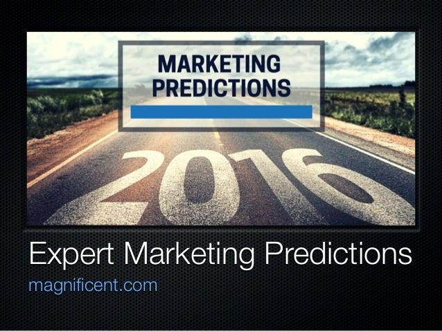 Expert Marketing Predictions magnificent.com