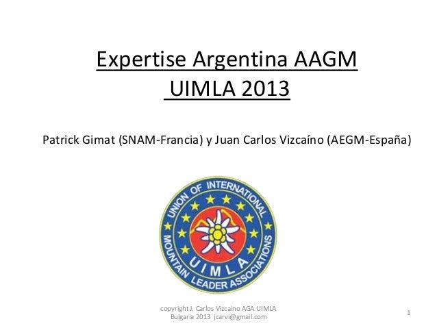 Expertise Argentina AAGM UIMLA 2013 Patrick Gimat (SNAM-Francia) y Juan Carlos Vizcaíno (AEGM-España)  copyright J. Carlos...