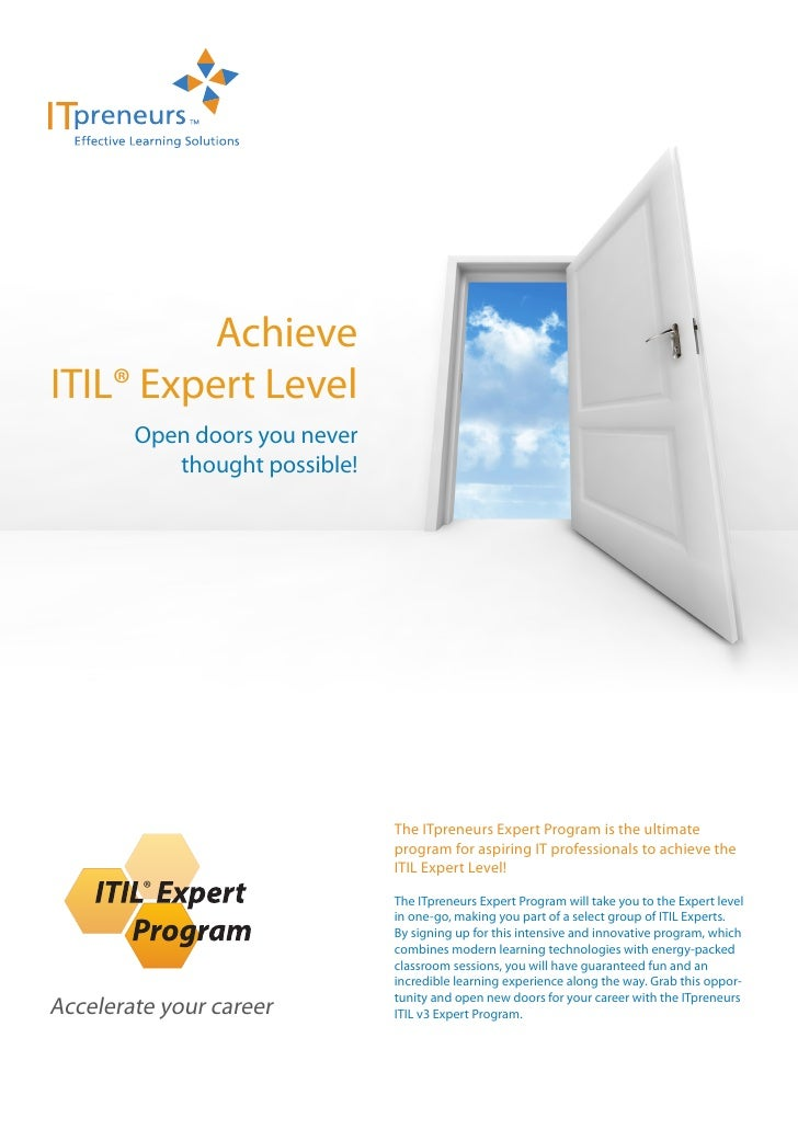Achieve ITIL® Expert Level         Open doors you never            thought possible!                                    Th...