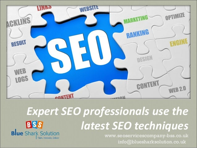 Expert SEO professionals use the latest SEO techniques www.seoservicescompany-bss.co.uk info@bluesharksolution.co.uk