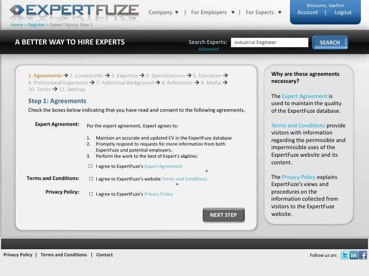 Home > Register > Expert Signup Step 1<br />A BETTER WAY TO HIRE EXPERTS<br />SEARCH<br />Search Experts:<br />Industrial ...