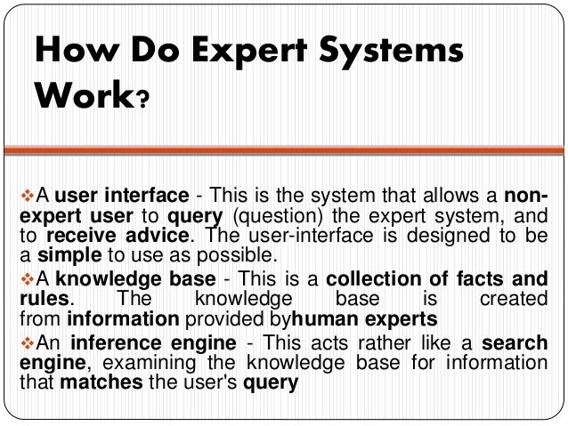 how to develop an expert system