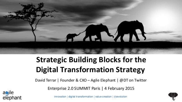Strategic Building Blocks for the Digital Transformation Strategy Enterprise 2.0 SUMMIT Paris | 4 February 2015 David Terr...