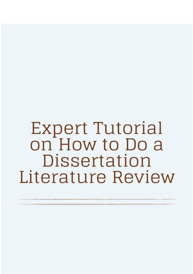 dissertation tutorial