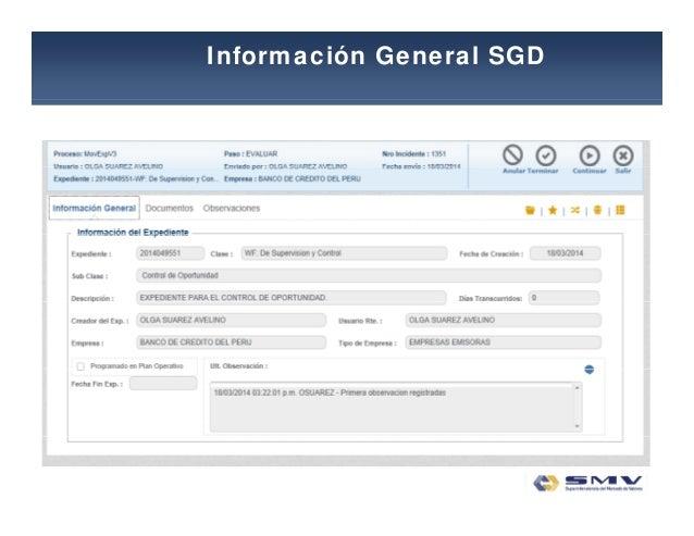 Información General SGD