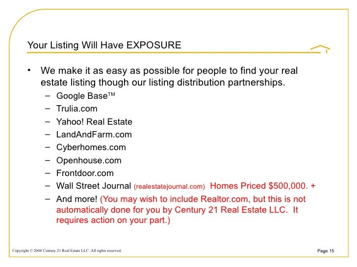 ... 15. Your Listing ...
