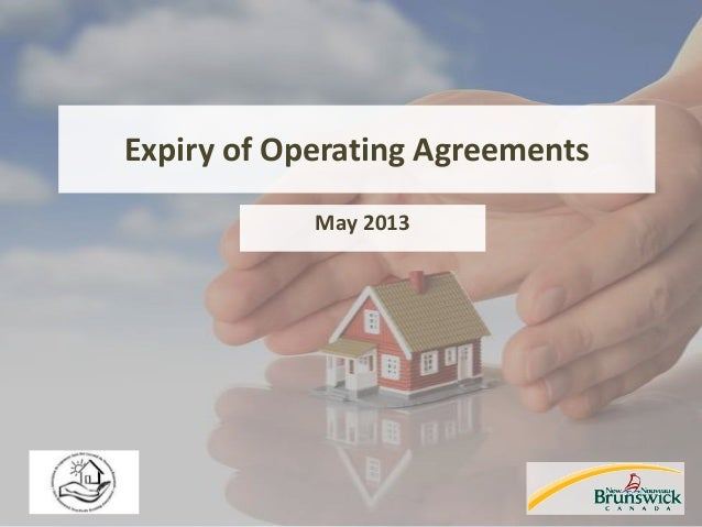 Expiry of Operating Agreements May 2013