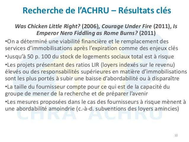 Recherche de l'ACHRU – Résultats clés 10 Was Chicken Little Right? (2006), Courage Under Fire (2011), Is Emperor Nero Fidd...