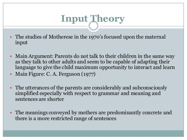 motherese theory of language acquisition
