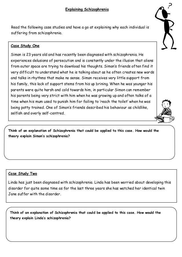 Case studies on schizophrenia. A case study of undifferentiated.
