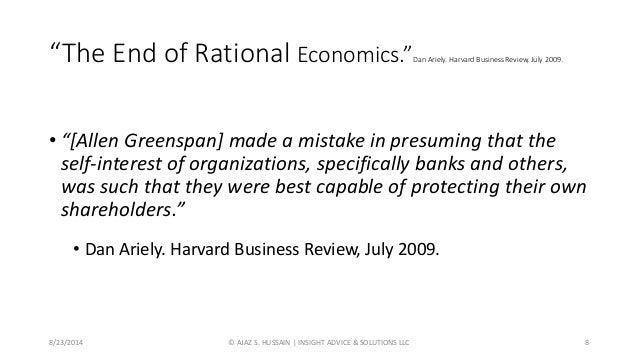 people are not rational in behavior economics
