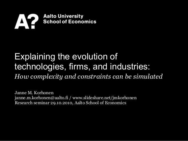 Janne M. Korhonen janne.m.korhonen@aalto.fi / www.slideshare.net/jmkorhonen Research seminar 29.10.2010, Aalto School of E...