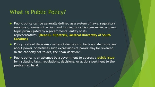 models of public policy