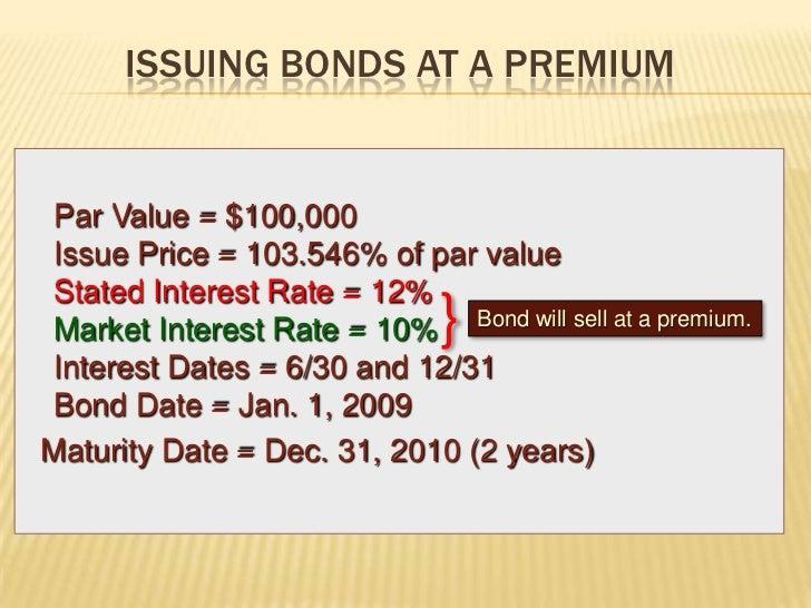 explanation bond issue price