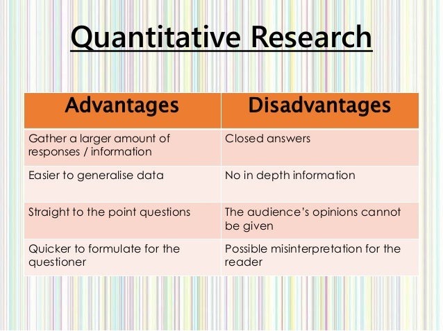 advantages of quantitative techniques pdf