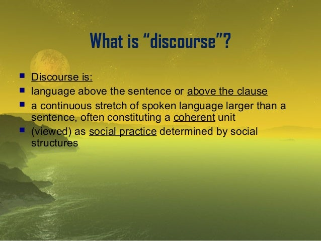 Explanation of discourse analysis Slide 2