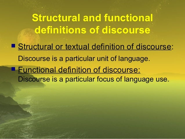 Explanation of discourse analysis Slide 3