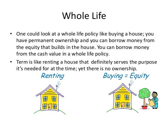 Explanation Of Term And Whole Life Insurance