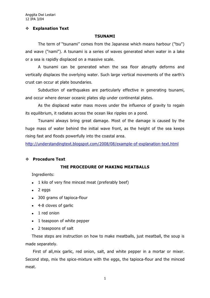 "Anggita Dwi Lestari12 IPA 3/04 Explanation Text                                       TSUNAMI        The term of ""tsunami..."
