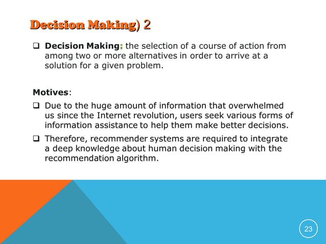 Decision Making( 2  23