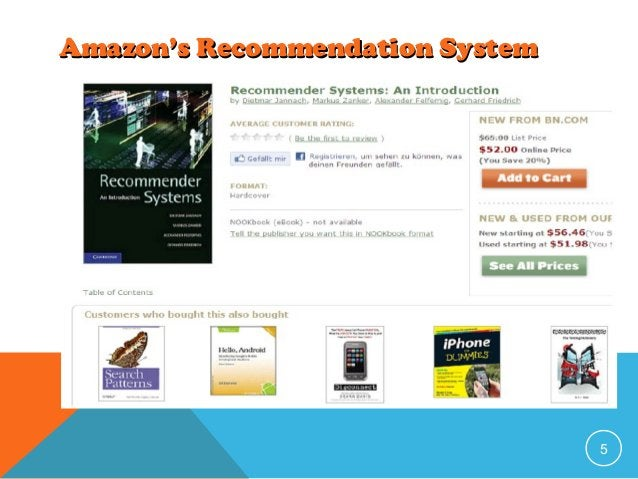 Amazon's Recommendation System  5