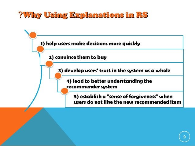 ?Why Using Explanations in RS  9