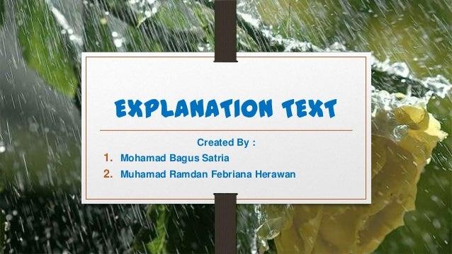 EXPLANATION TEXT                Created By :1. Mohamad Bagus Satria2. Muhamad Ramdan Febriana Herawan