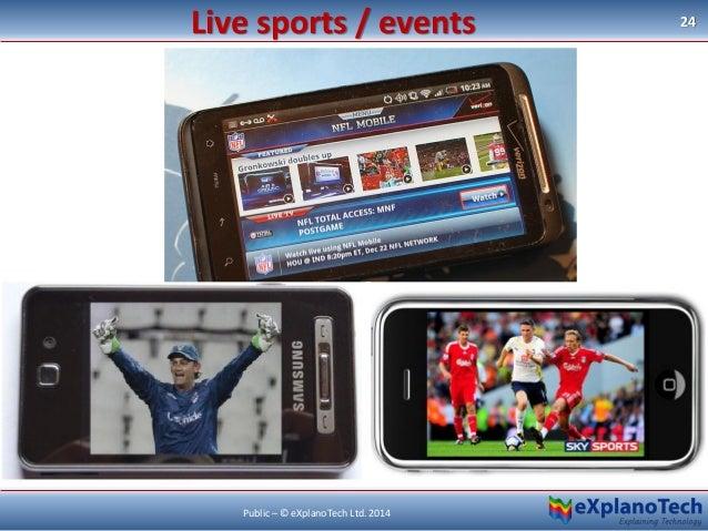 Live sports / events 24 Public – © eXplanoTech Ltd. 2014