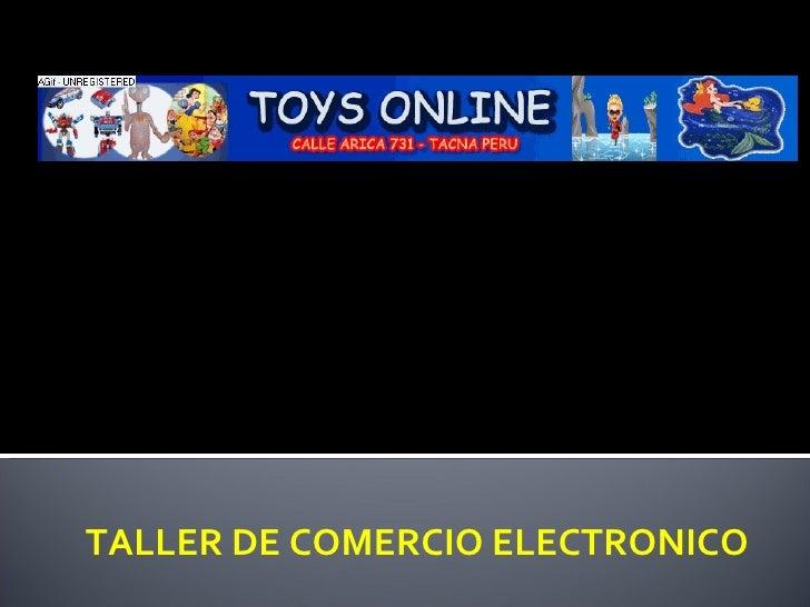 COMPRA POR INTERNET TALLER DE COMERCIO ELECTRONICO