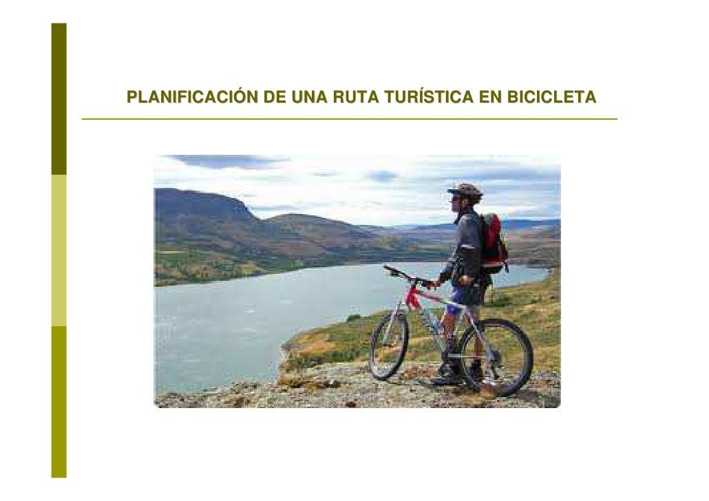 PLANIFICACIÓN DE UNA RUTA TURÍSTICA EN BICICLETA