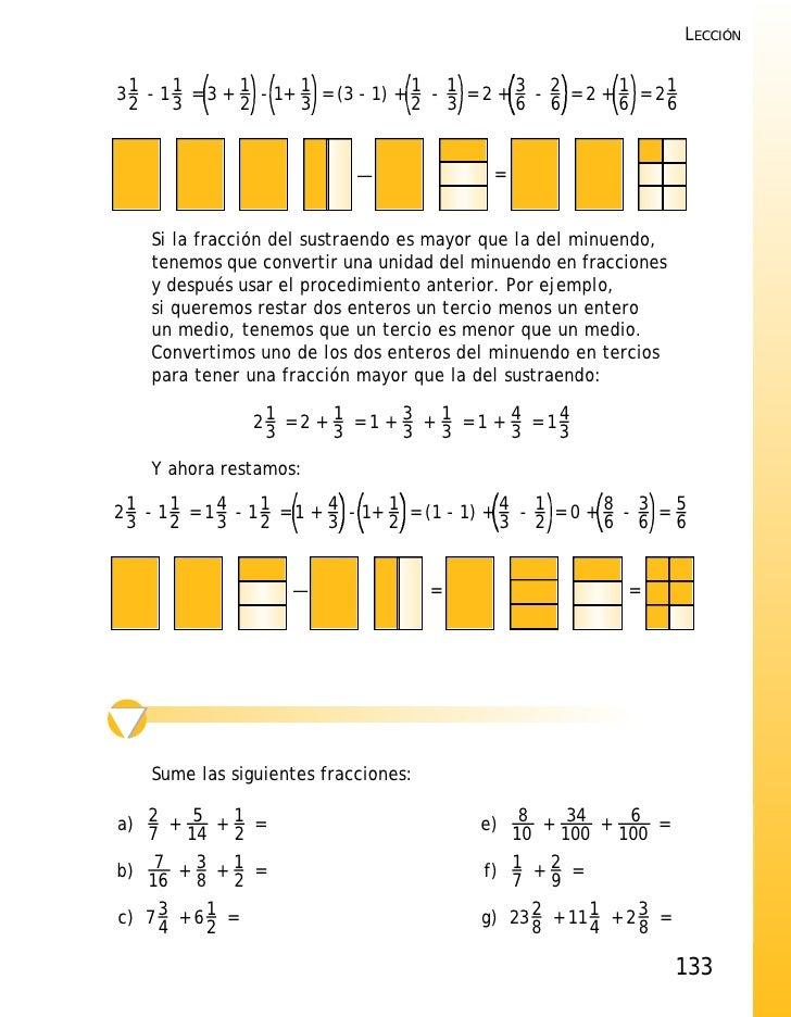 Explicaci n suma y resta fracciones for Cuanto es un cuarto