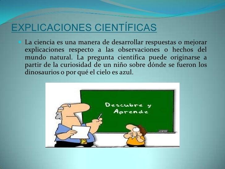 Explicacion cientifica
