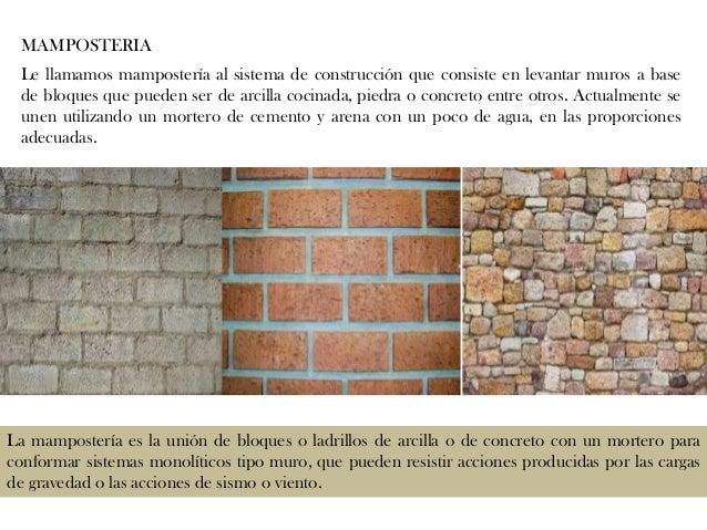 Explicaci n sobre los tipos de muros - Tipos de mamposteria de piedra ...