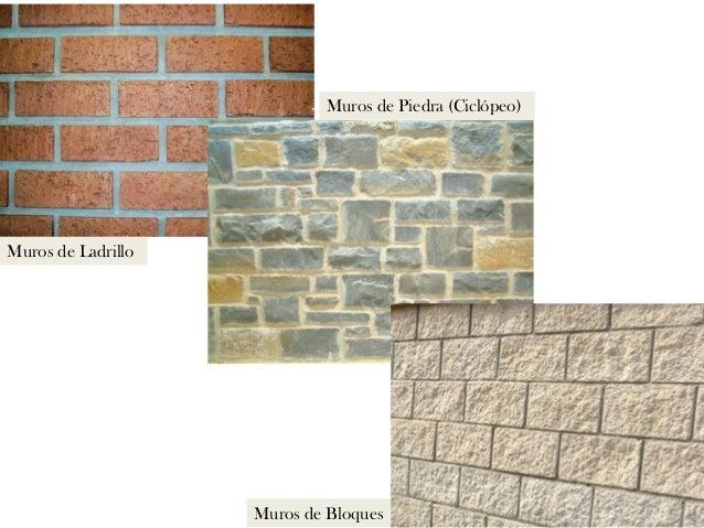 Explicacin sobre los tipos de muros