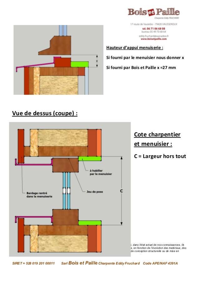 Explication Des Cotations Pour Les Menuiseries