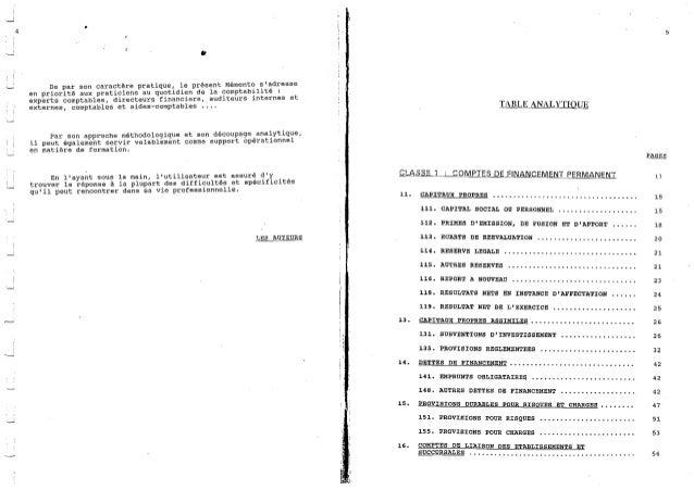 Explication du plan comptable marocaine