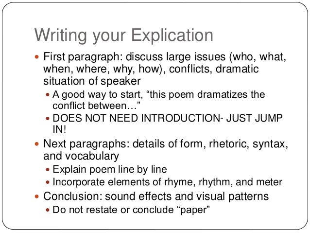 how to write an explication