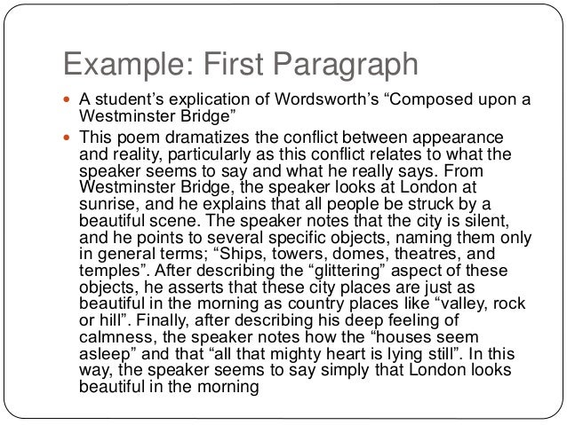 Explication Of Poetry