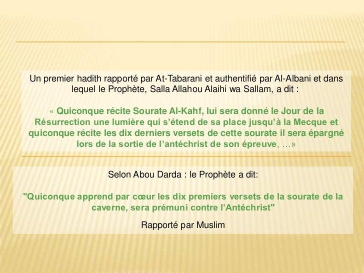 بسم الله الرحمن الرحيم<br />Un premier hadith rapporté par At-Tabarani et authentifié par Al-Albani et dans lequel le Prop...