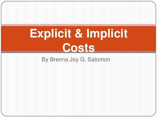 meaning of implicit cost