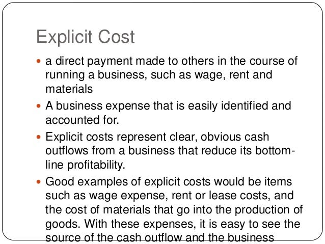 implicit cost meaning