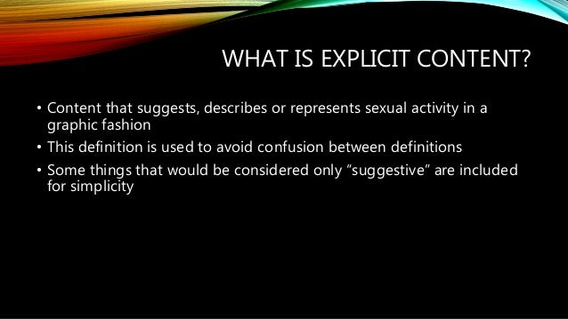 Sexual content in media definition